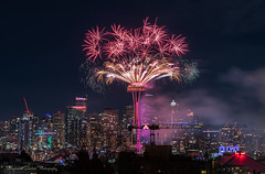Happy 2018, Seattle! (Stephanie Sinclair) Tags: newyears2018 newyearseve2017 tmobilemagenta city fireworks nightphotography seattle seattleempress spaceneedle stephaniesinclairphotography