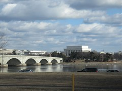 Memorial Bridge and Lincoln Memorial, partially frozen Potomac River, Washington, D.C. (Paul McClure DC) Tags: washingtondc districtofcolumbia jan2018 river scenery historic architecture potomac