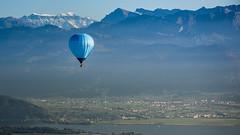 Schweiz aus dem Heissluftballon