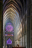 Nef et rosace de la cathédrale de Reims (jjcordier) Tags: cathédrale intérieur gothique nef rosace reims champagne catholique patrimoine arche