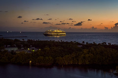 Cruise ship arriving at Port Everglades (Ed Rosack) Tags: ship usa fortlauderdale ocean seascape reflection cloud dawn landscape sky ©edrosack water msnieuwamsterdam cruise florida cloudy