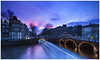 Amsterdam Sunset (Mark Newman Photography) Tags: keizersgracht leidsegracht water dutch holland canal light trail long exposure lee filters canon 5ds amsterdam sunset