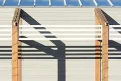 Lines and shadowplay (Jan van der Wolf) Tags: map16561v lines playoflines interplayoflines lijnen lijnenspel shadows schaduwen abstract shadowplay shadow prikkeldraad barbedwire