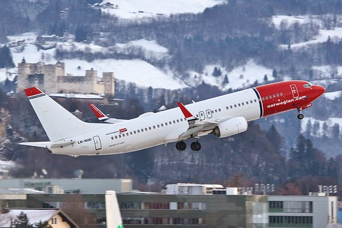 LN-NHD Boeing 737-800 @ Salzburg 30th December 2018