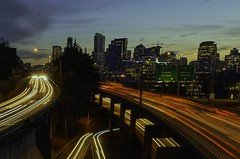 Car Trails | Seattle (sunrisesoup) Tags: cartrails seattle lakeview overpass winter light trails longexposure 1635 sony a7r3 a7riii a7 a7r sunset captureone photoshopclassic explore i5 interstate5 highway night december 2017 wa usa capitolhill ilce7rm3 a7r¡¡¡ sunrisesoup