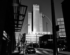 The CIS building (LozHudson) Tags: manchester monochrome mono blackwhite blackandwhite fuji xt10 fujifilmxt10 northernquarter building architecture lightshade lightshadow