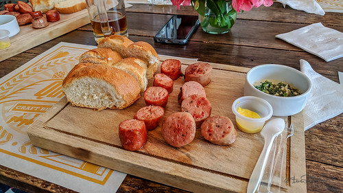 Sausages and Chimichurri
