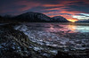 Incoming tide (Traylor Photography) Tags: alaska december wideangle indian landscape winter railroad sunrise iceflow mountains panorama clouds sewardhighway lightsource reflection anchorage unitedstates us