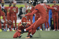 Justin Tucker at Pro Bowl (JJ from Philly) Tags: pro bowl football orlando usa 29 jan 2017 justin tucker dustin colquitt afc kicker 9 baltimore ravens kicks a field goal as punter 2 kansas city chiefs hold ball during second half nfl game fla professional florida united states north america sport 54796940