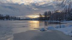Freezing lake (livejungle) Tags: winter nikond750 lake ice suomi finland clouds landscape nordiclandscape nature outdoor sun light talvi jää järvi lumi valo