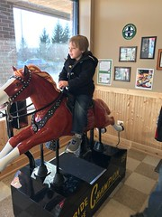 """Paul Rides a Horse at 2Toots Train Whistle Grill • <a style=""""font-size:0.8em;"""" href=""""http://www.flickr.com/photos/109120354@N07/27612981239/"""" target=""""_blank"""">View on Flickr</a>"""