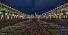 . (bluestardrop - Andrea Mucelli) Tags: torino turin cityscape piazza square piazzasancarlo lucidartista luci lights piemonte piedmont