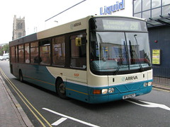 Arriva DAF SB200 3707 BF52NZT - Leicester (dwb transport photos) Tags: arriva daf wright commander bus 3707 bf52nzt leicester