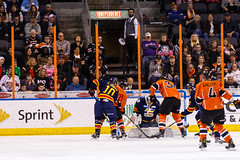 "Kansas City Mavericks vs. Colorado Eagles, December 16, 2017, Silverstein Eye Centers Arena, Independence, Missouri.  Photo: © John Howe / Howe Creative Photography, all rights reserved 2017. • <a style=""font-size:0.8em;"" href=""http://www.flickr.com/photos/134016632@N02/38255718215/"" target=""_blank"">View on Flickr</a>"