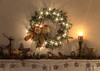 Merry Christmas from my home to yours! (Nancy Rose) Tags: christmas wreath sparkle kights mantle living room candle light
