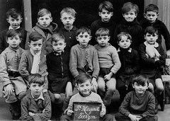 Under Nourished (theirhistory) Tags: boys children kids clothing france jumper shorts eyes scarf class form school pupils students education