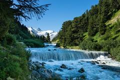 Bernina Range glaciers, Ova da Roseg river valley, near Pontresina, Engadine, Switzerland. (Alpenwild Trips) Tags: 2016swissshow europe photobest switzerland falls ice landscape mountain river stream water waterfall pontresina grisonsgraubünden