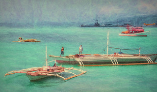 Outriggers in Cebu Straits