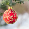 time to sparkle and shine (Nancy Rose) Tags: christmas ball ornament sparkle red outdoors winter