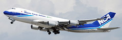 Boeing 747-4KZ JA08KZ (707-348C) Tags: losangeles thehill lax airliner jetliner boeing boeing747 b744 cargo freighter klax ja08kz nipponcargoairlines nca california nippon classic
