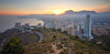 (876/17) Sunset (Pablo Arias) Tags: pabloarias photoshop photomatix capturenxd españa cielo nubes arquitectura paisaje ciudad puestadesol atardecer hierba mar agua mediterráneo benidorm rascacielos alicante