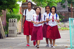 End of school (David B. - just passed the 5 million views. Thanks) Tags: philippines pilipinas teampilipinas pinas philippine filipinas leyte southernleyte island southeastasia asia asian asiatique visayas a6000 ilce6000 sonya6000 sonyilce6000 70200 70200g sonyfe70200g sonyfe70200mmf4goss sony school schoolgirl schoolgirls girl girls pinay filipina uniform macrohon street streets red marroon
