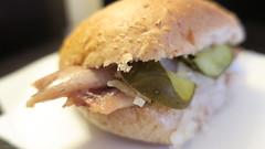Herring Sandwich (Accidental Hedonist) Tags: herring amsterdam