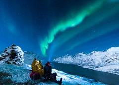 Winter is so much more than cold weather (Einar Angelsen) Tags: aurora auroraborealis northern lights northernlights landscape winter winterwonderland norway norwegen norge troms tromsø vinter sky mountains nightphotography nikond750 zeiss people view amazing polarnight arctic arcticcircle