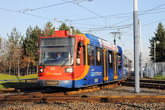 Stagecoach Supertram 102, Park Square 22/12/17 (TC60054) Tags: stagecoach sheffield siemens duewag duwag siemensduewag south yorkshire supertram sysl tram tramway light rail railway metro