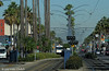 LOS ANGELES--138 at Long Beach Blvd./9th Street OB. 3-slide sequence (1 of 3) (milantram) Tags: electricrailtransport railsystemslosangeles losangeles lacmta streetcars trolleys trams lightrail blueline