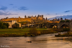 CARCASSONNE (Tina Tatay) Tags: carcassonne france francia medieval castle castillo fortaleza paisaje skyline landscape travel travelling viajar world puente bridge fortress river canal