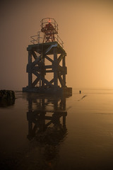 Shapes in the dark... (ola_er) Tags: fog tower shape silhouette dark foggy mystery night