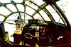 B-29A CAF Fifi Copilot's station, Bomb aimer's gun-turret sight 95-15-3A- (wbaiv) Tags: boeing b29a superfortress fifi caf commemorative air force july 1995 oakland airport olympus om1 kodak royal gold film 24mm f28 50mm f18 served trainer tb29a af sn 4462070 configuration now california north field