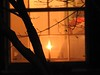 Who's in the window? (GoldenEagle754) Tags: belfieldplace lynchburg virginia window blinds hat tree silhouette outdoor outdoors outside christmas candle holiday holidays solstice wall warm winter december