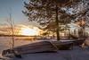 Boats waiting for summer (Arttu Uusitalo) Tags: 24105l mkiv 5d eos canon ostrobothnia southern finland sun shore winter sunrise hirvijärvi lake lakeshore boat