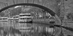 _DSC1859 copy (kaioyang) Tags: frankfurt riverboat germany reflections bw panorama sony a7r2 leica teletessar 135mm f4