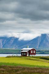 20170727-Canon EOS 6D-0014 (Bartek Rozanski) Tags: dalvik nordausturkjordaemi iceland house lone red mountains fjord eyjafjordur icelandic overcast