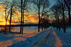Winter's glory (melliottohaire) Tags: rhinebeck dutchess sunset roads winter newyork