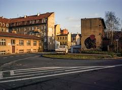 Katowice, Poland. (wojszyca) Tags: fuji fujica gsw680iii 6x8 120 mediumformat rangefinder fujinon sw 65mm gossen lunaprosbc epson v800 kodak ektachrome e100g transparency slide city urban architecture soloparking katowice housing