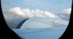Travel Light (Khaled M. K. HEGAZY) Tags: nikon coolpix p520 singapore nature outdoor closeup plane engine sky cloud blue white black