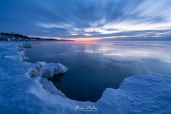 Winter's Pre-Dawn Light (Bryan N) Tags: lakeerie tryconell ice lake snow sunrise water winter clouds tyrconell ont ontario canada