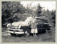 "1951 Ford Club Coupe (Vintage Cars & People) Tags: vintage us usa america vintageusa classic black white ""blackwhite"" sw photo foto photography automobile car cars motor vehicle antique auto 1950s fifties ford 1951ford fordsedan shoebox shoeboxford"