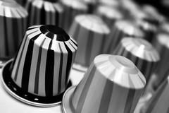 Day 360. Christmas variations. (Rob Emes) Tags: blur capsules coffee nespresso macro closeup bw black mono g7xii canon 3652017 365 dec2017