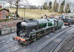 34053 'Sir Keith Park'. Bridgnorth. 30 December 2017. (ricsrailpics) Tags: uk shropshire bridgnorth severnvalleyrailway svr bulleidpacific 2017
