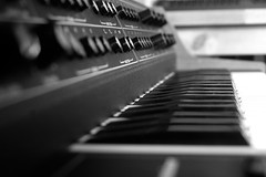 Keyboard (gornabanja) Tags: keyboard music keys blackwhite blackandwhite perspective dof nikon d70