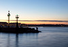 In a sentimental mood (raffaella.rinaldi) Tags: sunset dusk harbour people light silhouette water sea long exposure lighthouse italy cesenatico winter 2018 newyear sky landscape twilight