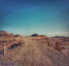 The road of  the life (amanyadel9212) Tags: aswan amada temples egypt blue sky yellow sand nature landscape colors sun mountain travel mobile photography photos stoeries road desert clouds