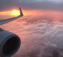 (Matthew_James) Tags: nofilter sunset clouds flying airplane plane
