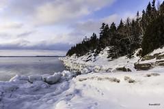 Lumière du matin_4634-HDR (RiendH2O) Tags: matin morning winter hiver fleuve glace ice river îleverte québec snow neige