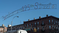 Welcome to 125th Street, Harlem, New York City (jag9889) Tags: 125thstreet 2017 20171206 architecture banner building car christmas decoration display harlem holiday house manhattan ny nyc newyork newyorkcity outdoor sign traffic truck usa unitedstates unitedstatesofamerica vehicle welcome jag9889